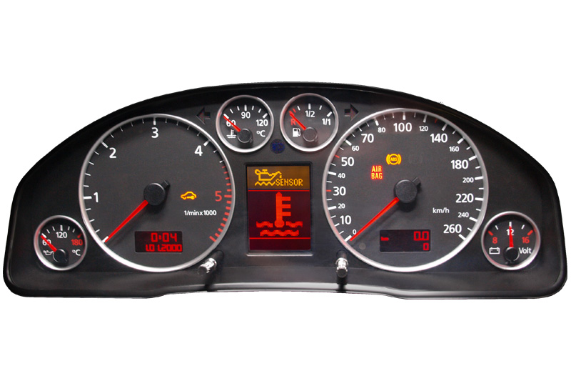 Audi A4 Kombiinstrument Tachoreparatur Anzeigen Fehlerhaft Display Pixelfehler Reparatur